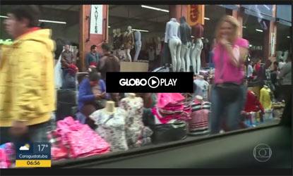 Comércio ilegal no Brás, veja a reportagem da Globo