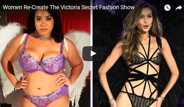Mulheres Reais recriam o desfile da Victoria's Secret
