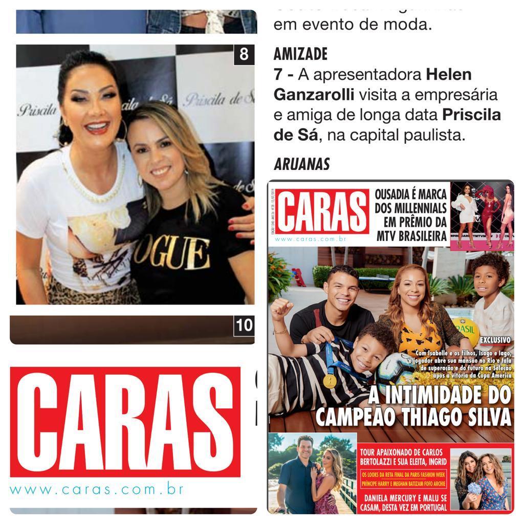 Priscila de Sá na revista Caras desse mês