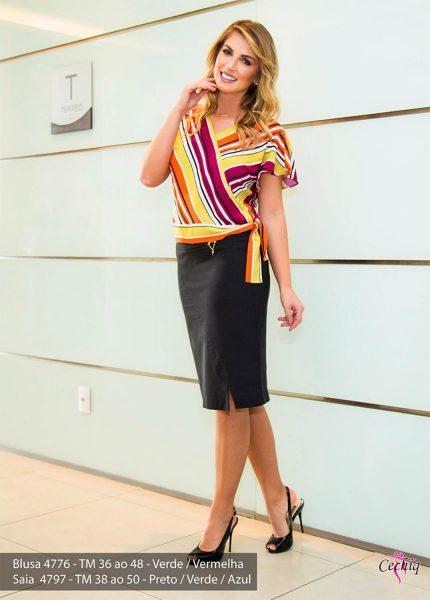 A Cechiq é atacadista especializada em Moda Feminina Evangélica e Executiva.  Seus produtos vão do tamanho 38 ao 52.  São saias, camisas, coletes, blazer avulso, vestidos, conjuntos de blazer com saia e casacos.