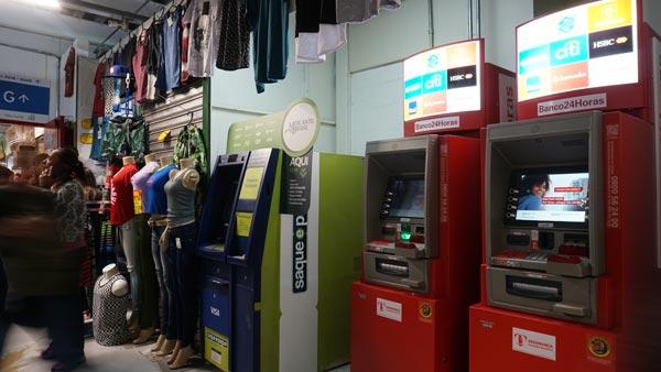 Agencias bancarias, Lotéricas e correios